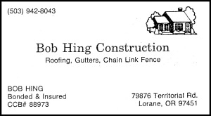 Hing business card