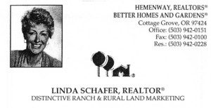 Linda Schafer business card