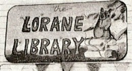 Lorane Library sign
