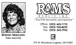 Sharon Malcolm business card