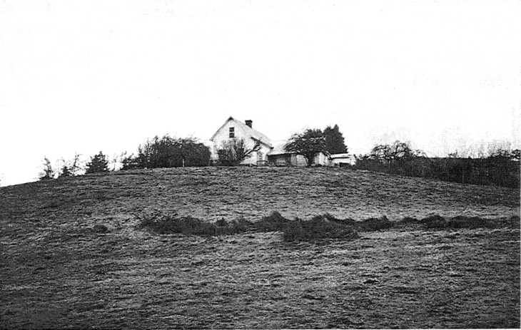 "The ""David Zumwalt House"" near Gillespie Corners, 6 miles north of Lorane (PLEASE NOTE: The house and barn are now called ""The Blue Rooster Inn Bed and Breakfast"" and is now owned by Nancy Pelton)"