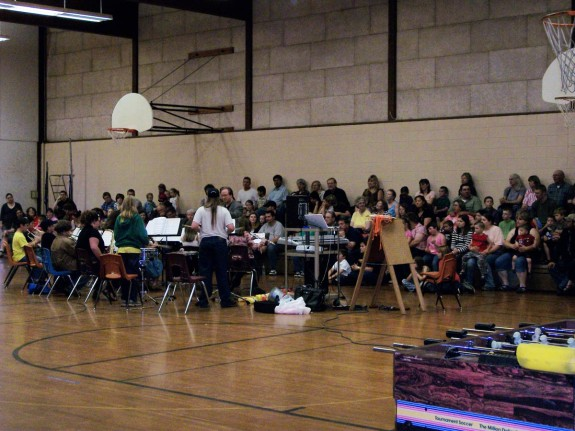 childrens concert in gym