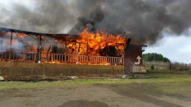 Lorane County Cafe burn 2