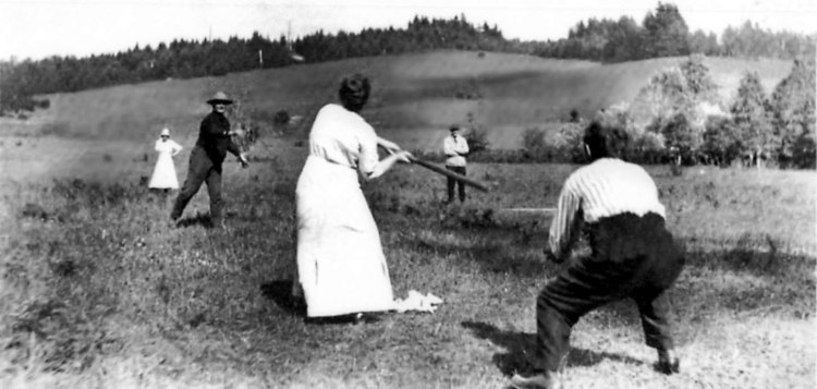Community baseball game