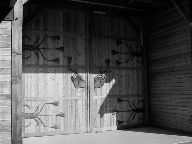 Coyote Ranch barn doors B&W
